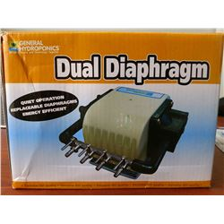 GENERAL HYDROPONICS DUAL DIAPHRAM 120V AIR PUMP - 320GPH