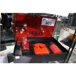 POLO RED HAIR & BODY WASH, COLONGE, AND DEODOURANT SET AND SCUDERIA FERRARI RACING RED COLONGE