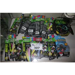 ASSORTED GLOW STICKS AND TOYS