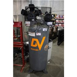 DV SYSTEMS 5 HP UPRIGHT AIR COMPRESSOR (NEEDS REPAIR)