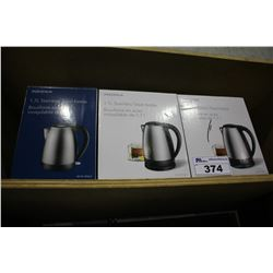 3 INSIGNIA ELECTRIC KETTLES