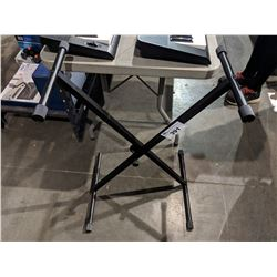 BLACK ADJUSTABLE ELECTRIC KEYBOARD STAND