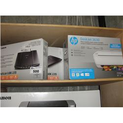 2 CANON COLOUR IMAGE SCANNERS & HP DESKJET 3630 ALL IN ONE PRINTER