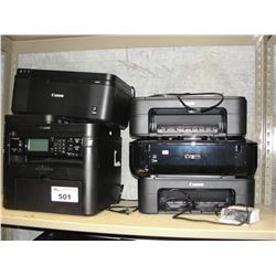 5 ASSORTED CANON PRINTERS