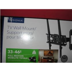 INSIGNIA 33-46 INCH FULL MOTION TV WALL MOUNT