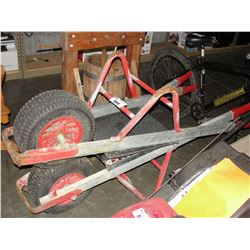 PAIR OF FLAT WHEELBARROW CARTS