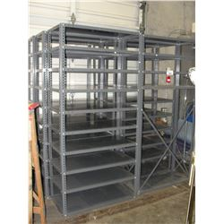6 HEAVY DUTY METAL PARTS SHELVES