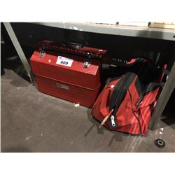 CRAFTSMAN TOOL BOX WITH CONTENTS & HILTI TOOL BAG