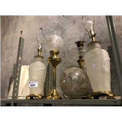 ASSORTED VINTAGE LAMPS