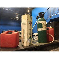 GAS CANS, FIRE EXTINGUISHER & CO2 TANK
