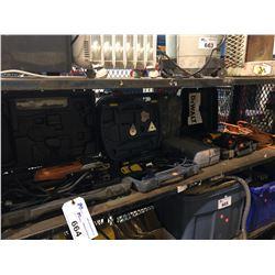 RIDGID JIG SAW, DEWALT CORDED DRILL, HEAT GUN & MORE
