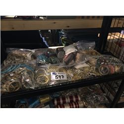 SHELF LOT OF ASSORTED JEWELRY