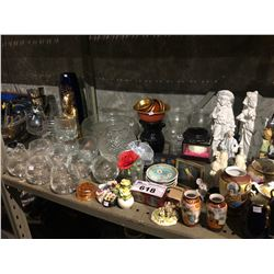 ASSORTED GLASSWARE, COLLECTABLES, FIGURINES & MORE