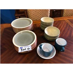 LOT OF ASSORTED DENBY PLATES & MORE