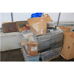 PALLET OF ASSORTED HOUSEHOLD & TOOLS