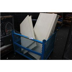 ASSORTED METAL SHELVING & MORE (BIN & CART NOT INCLUDED)