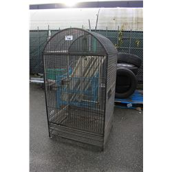 LARGE METAL BIRDCAGE, APPROX 5' TALL