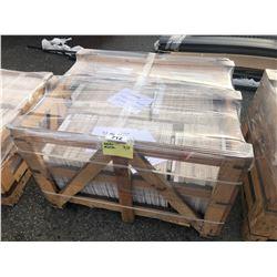 PALLET OF SAGALASOS MARBLE TILE 16 X 16 - 93 SQ, IVORY TRAVERTINE 16 X 16 - 30 SQ FT &