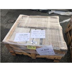 PALLET OF SAGALASOS MARBLE TILE 16 X 16 - 70 SQ FT, COUNTRY CLASSIC TRAVERTINE 16 X 16 - 124 SQ FT