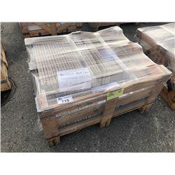 PALLET OF WALNUT ANTICO TRAVERTINE TILE 16 X 24 - 123 SQ FT, 8 X 8 - 28 SQ FT & 8 X 16 - 32 SQ FT