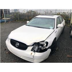 2006 BUICK LUCERNE, WHITE, 4DRSD, GAS, AUTOMATIC, *AS IS, MUST TOW, NO REGISTRATION, OUT OF PROVINCE