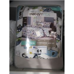 INK & IVY KIDS TWIN SIZE COMFORTER MINI SET