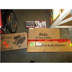 STAMINA IN-MOTION E1000, UPPER BODY WORKOUT BAR, BALANCE BIKE & ULTRATHIN BODY SLIMMER