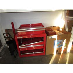 GENERAL HYDROPONICS WATERFARM PACK, INTERNATIONAL RED TOOL CHEST (COSMETIC DAMAGE), ACCESSORIES