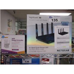NETGEAR NIGHTHAWK X8 AC5300 SMART WI-FI ROUTER & NETGEAR N300 WI-FI RANGE EXTENDER