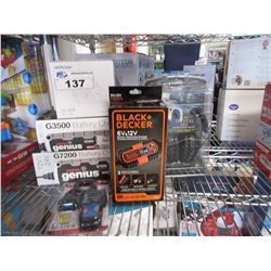 NOCO GENIUS G3500 & G7200 BATTERY CHARGERS, BLACK & DECKER BATTERY MAINTAINER/CHARGER, CODE READER,