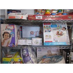 HUGGIES DIAPERS, KILO DIGITAL BABY SCALE, INFANTINO FLIP 4-IN-1 CONVERTIBLE CARRIER, MUNCHKIN WIPE