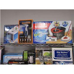VILEDA EASY WRING BUCKET & MOP, EXTREME STEAM MACHINE, ARCTIC AIR EVAPORATIVE AIR COOLER