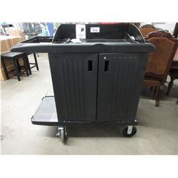 RUBBERMAID COMMERCIAL HOUSEKEEPING SERVICE CART