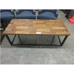 NEW WOOD & METAL COFFEE TABLE
