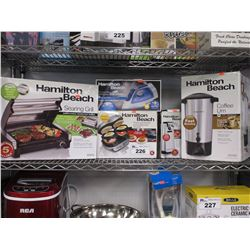 HAMILTON BEACH SEARING GRILL, HAMILTON BEACH STEAMER, HAMILTON BEACH SANDWICH PRESS, HAMILTON BEACH