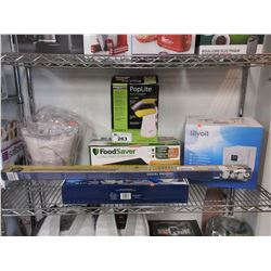 PRESTO POPLITE HOT AIR POPPER, FOODSAVER VACUUM SEALER, LEVOIT ULTRASONIC HUMIDIFIER, COOKING