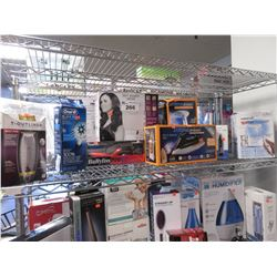 EXTREME STEAM MACHINES, WATERPIK WATER FLOSSER, NOSE HAIR TRIMMER, HAIR CURLER, SOFT BONNET DRYER,