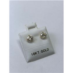 10KT. GOLD DIAMOND (0.98CT) EARRINGS APPRAISED VALUE $1970.00