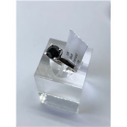 10KT. WHITE GOLD BLACK DIAMOND (1.17CT) RING (SIZE 6.5) APPRAISED VALUE $2690.00