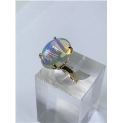 10KT. GOLD NATURAL OPAL (5CT) RING (SIZE 7)