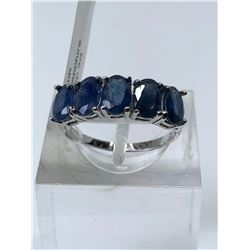 10KT. WHITE GOLD BLUE SAPPHIRE (3CT) RING (SIZE 7) APPRAISED VALUE $2470.00