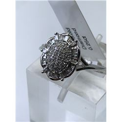 10KT. WHITE GOLD NATURAL DIAMOND (0.25CT) RING (SIZE 8) APPRAISED VALUE $2110.00