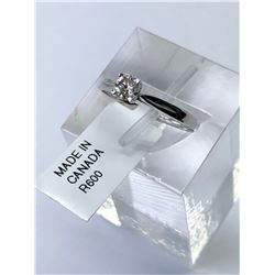 10KT. WHITE GOLD DIAMOND (0.22CT) RING (SIZE 6.5) APPRAISED VALUE $1820.00