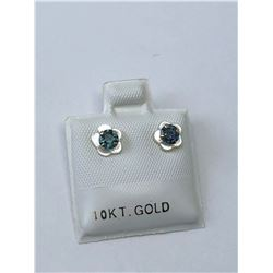 10KT. GOLD SAPPHIRE (0.66CT) MOTHER OF PEARL EARRINGS