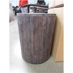 NEW URBAN GARDEN PLANT STAND, STOOL OR END TABLE (COCOA WASH BROWN)