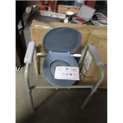 2 NOVA FOLDING COMMODE TOILET SEAT CHAIRS