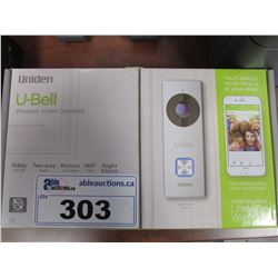 U-BELL WIRELESS VIDEO DOORBELL