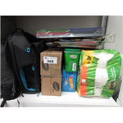 BOUNTY PAPER TOWEL, RECORDS, MARVEL CANVAS PACK, BOOST DRINKS, BACKPACK