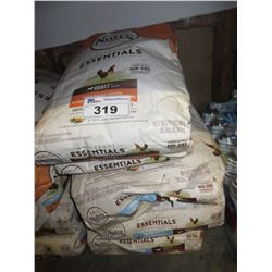 3 - 30LB BAGS & 2 - 15LB BAGS OF NUTRO LARGE BREED DOG FOOD