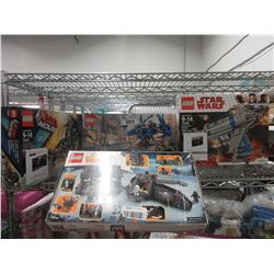 LEGO MOVIE SUPER SECRET POLICE DROPSHIP, LEGO STAR WARS CONVEYEX TRANSPORT IMPERIAL SET, STAR WARS
